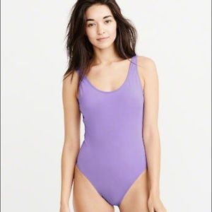 Abercrombie and Fitch Purple One-Piece Swimsuit
